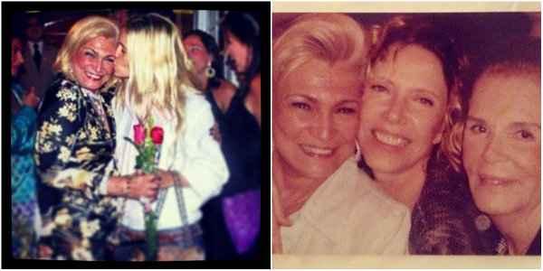 Carolina Dieckman e Marília Gabriela em homenagem a Hebe Camargo. Foto: Reprodução/Instagram