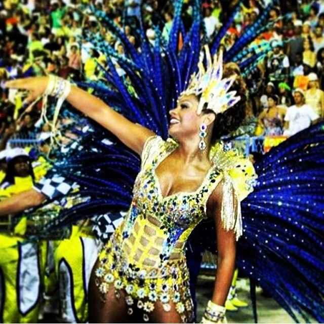 Atriz Juliana Alves foi rainha de bateria da campe� Unidos da Tijuca. Foto: Reprodu��o/Instagram