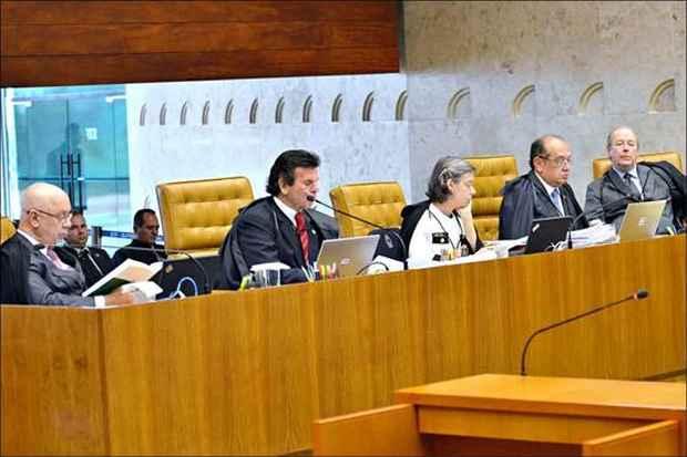 Em dezembro, quatro ministros votaram pela ilegalidade da doa��o de campanha por empresas foto: Jos� Cruz/ABR (Jos� Cruz/ABR)