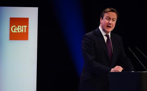 O primeiro-ministro britânico, David Cameron, é visto em 9 de março de 2014, em Hanover, Alemanha. Foto: AFP/Arquivos JOHN MACDOUGALL
