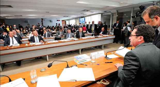 Estados pressionam CCJ do Senado pela aprova��o da proposta que muda o indexador da d�vida, de IGP-DI mais 7,5% para IPCA mais 4%. Foto: Geraldo Magela/Ag�ncia Senado  (Geraldo Magela/Ag�ncia Senado )