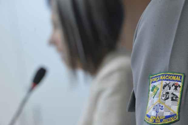 A secret�ria nacional de Seguran�a P�blica do Minist�rio da Justi�a, Regina Miki, divulga o Boletim 2013 da For�a Nacional. Foto: Marcello Casal/Ag�ncia Brasil