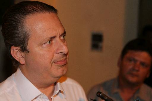 Campos j� discursa como pr�-candidato � Presid�ncia. Foto: Roberto Ramos/DP/D.A Pres (Roberto Ramos/DP/D.A Press)