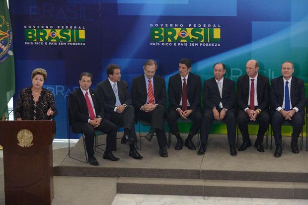 Seis ministros tomam posse em cerim�nia no Pal�cio do Planalto. Foto: Marcelo Camargo/Ag�ncia Brasil