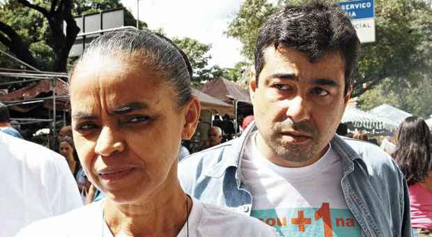 Marina Silva e Jos� Fernando rodaram a capital mineira em abril do ano passado, para recolher assinaturas de apoio � cria��o da Rede. Hoje ele faz cr�ticas � ex-senadora. Foto: Ed�sio Ferreira/EM/D.A PRESS  (Ed�sio Ferreira/EM/D.A )