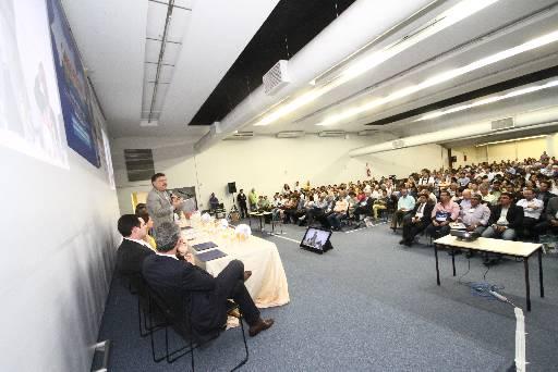 Apesar dos discursos elogiosos a Campos, Patriota negou conota��o eleitoreira do evento. Foto: Claudio Gomes/Divulgacao (Claudio Gomes/Divulgacao)