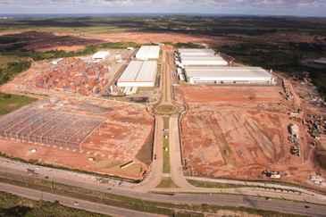 Divulga��o/Cone Suape (Galp�o que abrigar� o projeto j� est� sendo constru�do no Cone Suape - Condom�nio de Neg�cios)