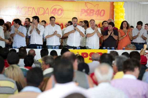 O evento contou com a participa��o de 17 prefeitos, entre eles o de Jucati, Gerson Henrique (PTB). Foto: Roberto Pereira/Divulga��o (Roberto Pereira/Divulga��o)