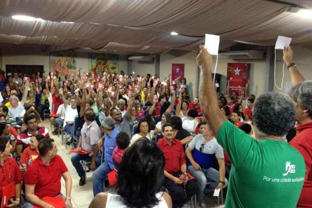 Decis�o foi tomada em vota��o neste domingo durante Encontro de T�tica Eleitoral. Foto: Jonatas Campos/Divulga��o (Jonatas Campos/Divulga��o)