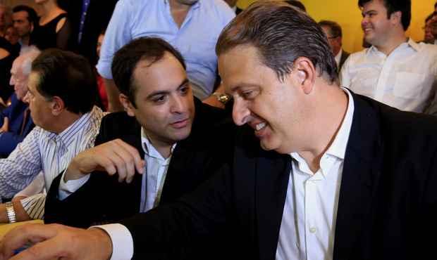 Governador de Pernambuco Eduardo Campos, no dia em que anunciou seu candidato, Paulo Camara, � sucess�o governamental do Estado (Teresa Maia/DP/D.A Press)