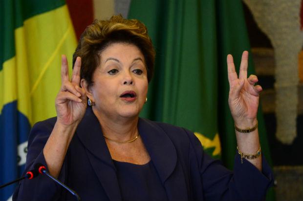 Dilma argumentou que o Brasil, apesar das inconst�ncias do mercado financeiro internacional, conseguiu acumular reservas nos �ltimos anos. Foto: Ronaldo de Oliveira/CB/D.A Press (Ronaldo de Oliveira/CB/D.A Press)