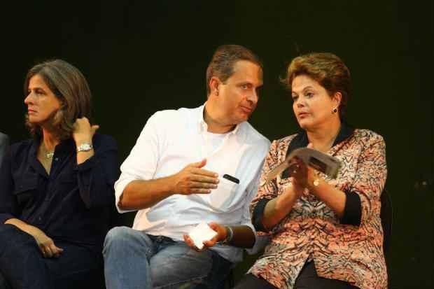 Dilma estaria em solo pernambucano na segunda, no mesmo dia em que Eduardo lan�ar� sua pr�-candidatura ao Pal�cio da Alvorada em Bras�lia. Foto: Anna clarice Almeida/DP/D.A Press (Anna clarice Almeida/DP/D.A Press)
