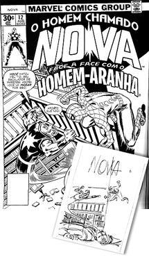 Obra mostra esboços até o desenho final dos heróis. Foto: Marvel/Divulgação