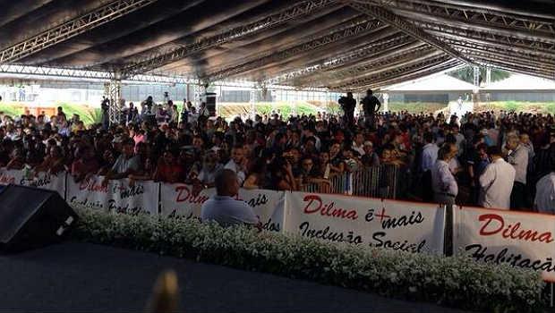 Moradores da regi�o confeccionaram faixas de apoio � presidente (Blog do Planalto/Divulga��o)