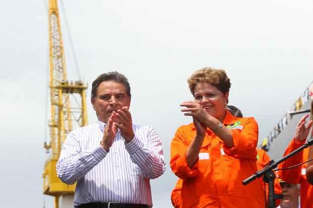 Dilma se referiu � Petrobras como %u201Cuma empresa vencedora, que nada nem ningu�m vai conseguir destruir%u201D. Foto: Paulo Paiva/DP/D.A.Press (Paulo Paiva/DP/D.A.Press)