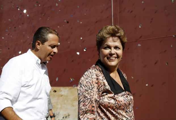 Depois do desencontro de ontem (14), Eduardo e Dilma cumprem agenda hoje (15) na mesma cidade: Rio de Janeiro. Blenda Souto Maior/DP/D.A Press (Blenda Souto Maior/DP/D.A Press)