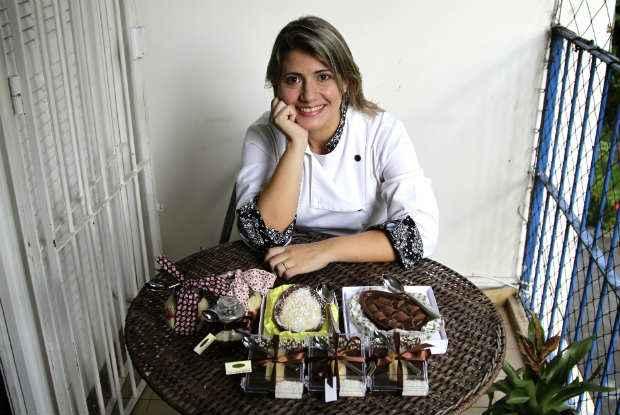 Juliana Serpa investe em sobremesas gourmet que est�o fazendo sucesso na P�scoa deste ano  (Guilherme Verissimo/Esp.DP/D.A P)