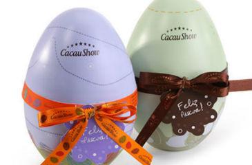 Latinha com chocolate na Cacau Show � op��o diferente e divertida. O mimo custa R$ 26,90 (Cacau Show/Divulga��o)