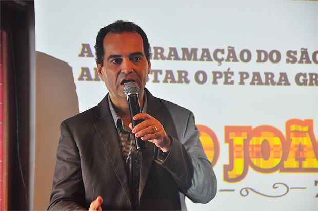 O prefeito de Gravat�, Bruno Martiniano, durant o lan�amento do S�o Jo�o da cidade no ano passado (Bruna Monteiro/DP/D.A Press/Arquivo)