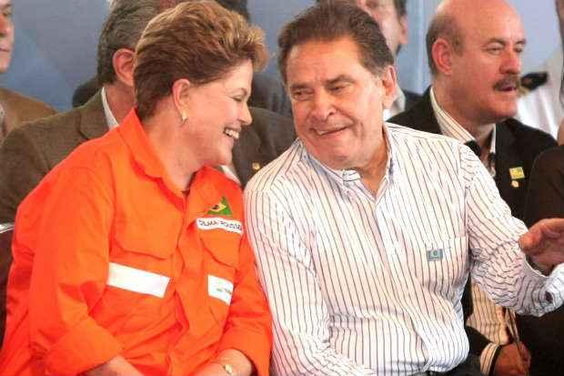 Dilma Rousseff e Jo�o Lyra estiveram juntos pela �ltima vez no dia 14, em Suape Foto: Aloisio Moreira/SEI (Aloisio Moreira/SEI)