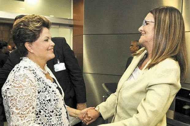 Dilma Rousseff e Gra�a Foster: inclu�das na lista da Time de 2012, que tamb�m tinha o empres�rio Eike Batista. Foto: Roberto Stuckert Filho/PR) (Roberto Stuckert Filho/PR))