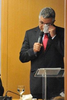 Padilha cancelou a agenda de pr�-campanha para se explicar � imprensa. Foto: Breno Fortes/CB/D.A Press