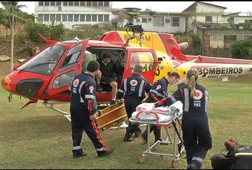 Gustavo de Oliveira Ferreira foi resgatado e n�o sofreu ferimentos graves. Foto: Reprodu��o/ TVA