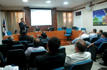 Representantes dos munic�pios se reuniram na sede da AD Diper (Foto: Lucas Henrique/Divulga��o)