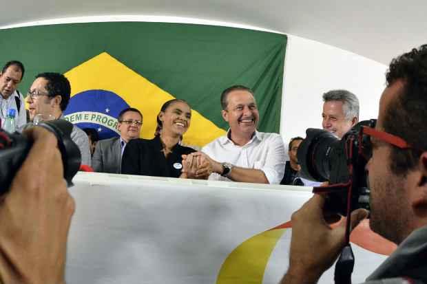 Apesar da boa rela��o entre Eduardo e Marina, clima entre socialista e marineiros em S�o Paulo n�o est� nada bem. Foto Humberto Pradera/PSB/Divulga��o (Humberto Pradera/PSB.)