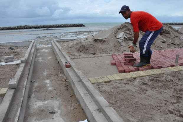 Obras de contenção no Janga são retomadas. Foto: Divulgação