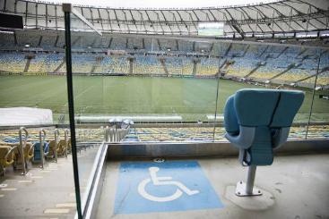 Est�dio da final da Copa, o Maracan� tem 627 lugares para pessoas com mobilidade reduzida, 111 para cadeirantes e 101 para obesos. Foto: Maracan�/Divulga��o