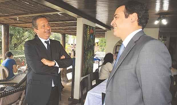 Eduardo e C�mara estiveram poucas vezes juntos durante a pr�-campanha deste ano (Roberto Pereira/Divulga��o)