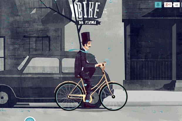 App Bike da Firma calcula a quilometragem percorrida por funcionários e clientes de uma agência. Foto: Bikedafimra.com/Reprodução