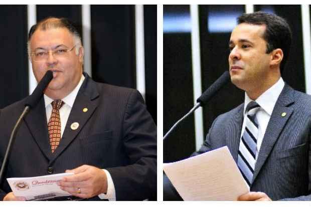 Radicalismo do Pastor Eurico (� esquerda) n�o conseguiu respaldo de integrantes da bancada como o deputado federal Anderson Ferreira (PR)  (Duvulga��o/ Ag�ncia C�mara )