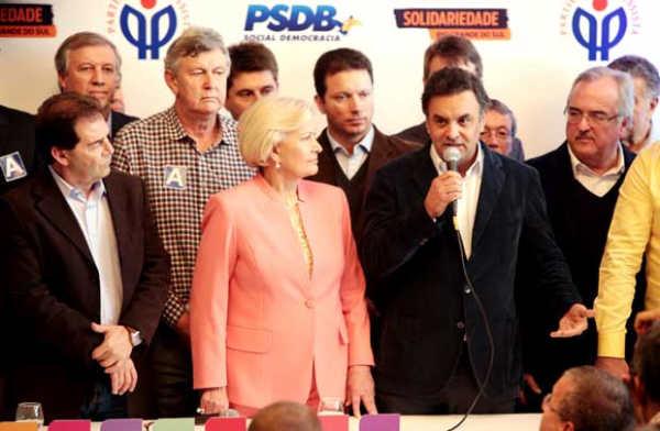 A�cio no lan�amento da candidatura de Ana Am�lia no Rio Grande do Sul, onde o PP se coligou ao PSDB - Foto: Orlando Brito/PSDB/Divulga��o (Orlando Brito/PSDB/Divulga��o)