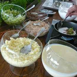 Buffet oferece a tapioca como opção para festas e recepções. Foto: Célia Soutto Mayor / Divulgação