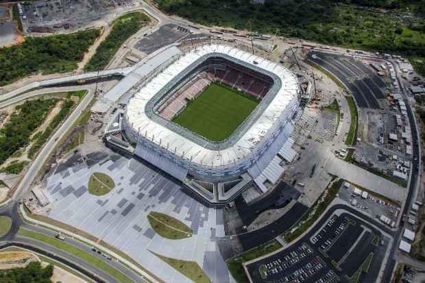 A Arena Pernambuco vai receber cinco jogos durante a Copa. Foto:Rafael Bandeira/Divulgacao