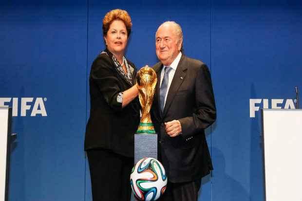 Joseph Blater e a presidente Dilma Rousseff n�o far�o discurso na abertura do evento, no dia 12 de junho, no Itaqueir�o, no jogo entre Brasil e Cro�cia. Foto: Roberto Stuckert/PR (Roberto Stuckert/PR)