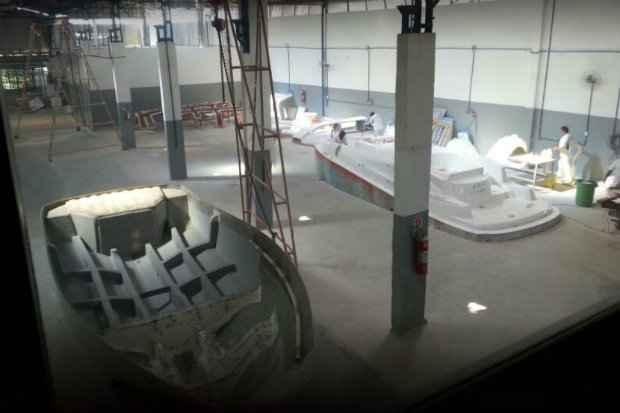 A capacidade de produ��o do estaleiro NX Boats ser� de 102 barcos por ano. Foto: NX Boats/Divulga��o