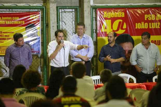 Primeiro evento ao lado de pr�-candidatos a deputados de C�mara foi ao lado de Isaltino, ex-petista. Foto: Rodrigo Lobo/PSB/Divulga��o (Foto: Rodrigo Lobo/PSB/Divulga��o)