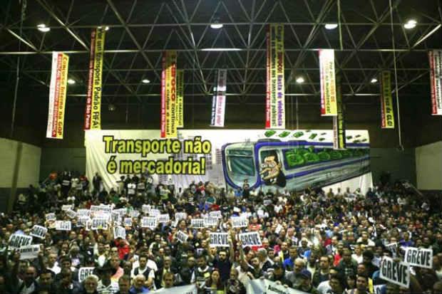 sobrecarrega o tr�nsito na cidade de abertura da Copa. Foto: Paulo Iannone/Sindicato dos Metrovi�rios (Paulo Iannone/Sindicato dos Metrovi�rios)