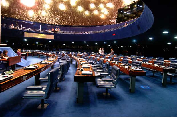 Embora os senadores tivessem prometido trabalhar at� hoje, a Casa tamb�m ficou vazia depois das decis�es do per�odo da manh�. Foto: Geraldo Magela/Ag�ncia Senado (Geraldo Magela/Ag�ncia Senado)