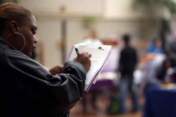 Feira de empregos em San Francisco. Foto: � Getty/AFP Justin Sullivan (Feira de empregos em San Francisco. Foto: � Getty/AFP Justin Sullivan)