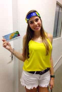 Gabriela Medeiros vai ver o jogo da Sele��o em Fortaleza. Foto: Arquivo Pessoal