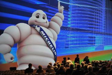 Assembleia geral de acionistas da Michelin em Clermont-Ferrand em maio. Foto: � AFP/Thierry Zoccolan  (Assembleia geral de acionistas da Michelin em Clermont-Ferrand em maio. Foto: � AFP/Thierry Zoccolan )