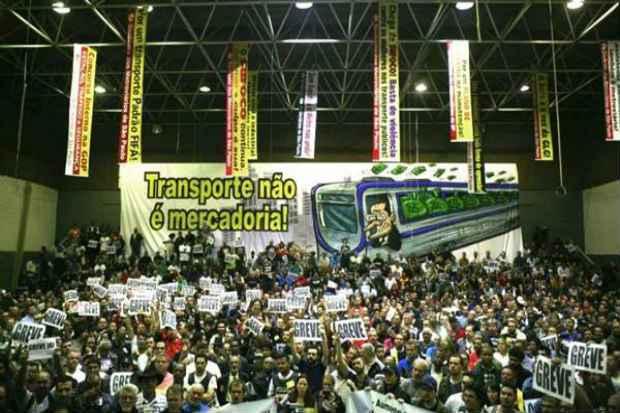 Os problemas de transporte na cidade desde quarta-feira da semana passada, quando mais da metade das esta��es ficaram fechadas. Foto: Paulo Iannone/Sindicato dos Metrovi�rios (Paulo Iannone/Sindicato dos Metrovi�rios)