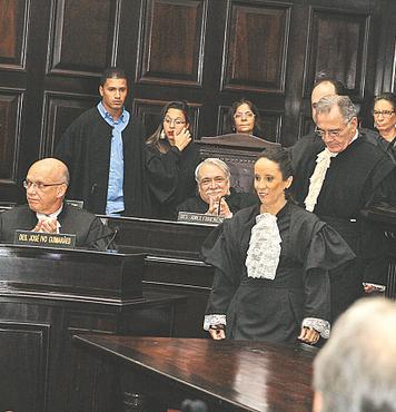 Cerim�nia ocorreu ontem no Pal�cio da Justi�a. Foto: Nando Chiappetta/DP/D.A. Press