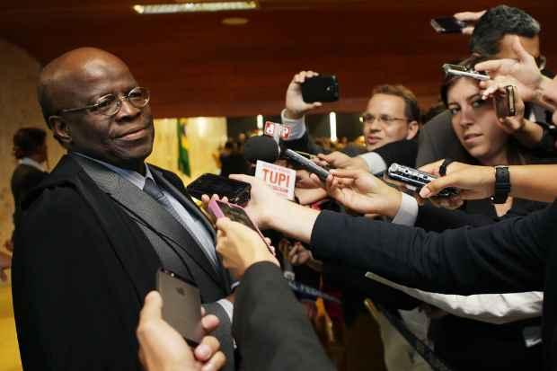 Ministro ganhou os holofotes da m�dia ap�s o julgamento do esc�ndalo do mensal�o do PT. Foto: Fellipe Sampaio/STF