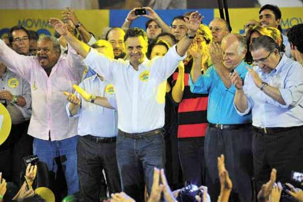 O presidenci�vel tamb�m recebeu ontem o apoio nacional do PTdoB. Foto: Leandro Couri/EM/D.A Press (Leandro Couri/EM/D.A Press)