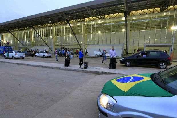 A Secretaria de Turismo de Cuiab� espera receber mais de 20 mil chilenos at� o jogo de estreia da sele��o do Chile com a Austr�lia, na sexta-feira (13). Foto: Edson Rodrigues/Secopa-MT (Edson Rodrigues/Secopa-MT)